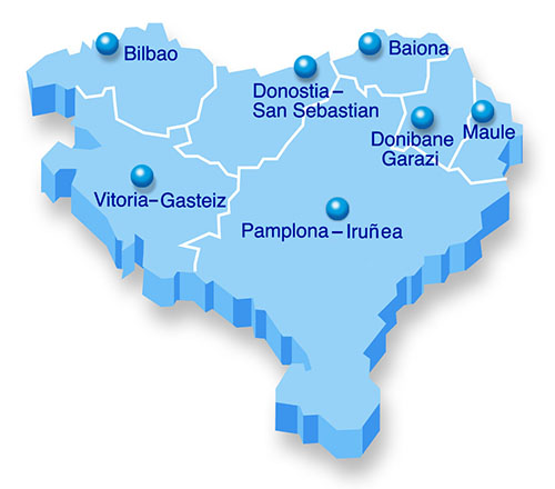Capitals of the Basque Provinces