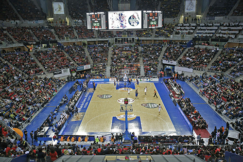 """Buesa Arena"" Pavilion in Vitoria-Gasteiz is home court for the most important Basque team."