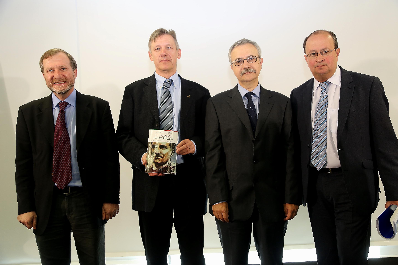 Pablo Santiago, Ludger Mees, José Luis de la Granja and José Antonio Rodríguez