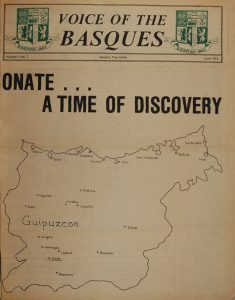 "The cover of Boise magazine, June 1975 ""Voice of the Basques"""