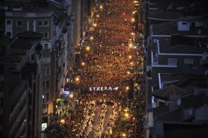 January 2015. Demonstration in the steets of Bilbao defending prisoner rights.