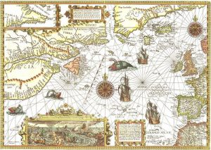 1592, Whale fishing areas of the North Atlantic. Photo: Wikimedia