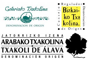Logos of the three denominations of origin of Txakoli