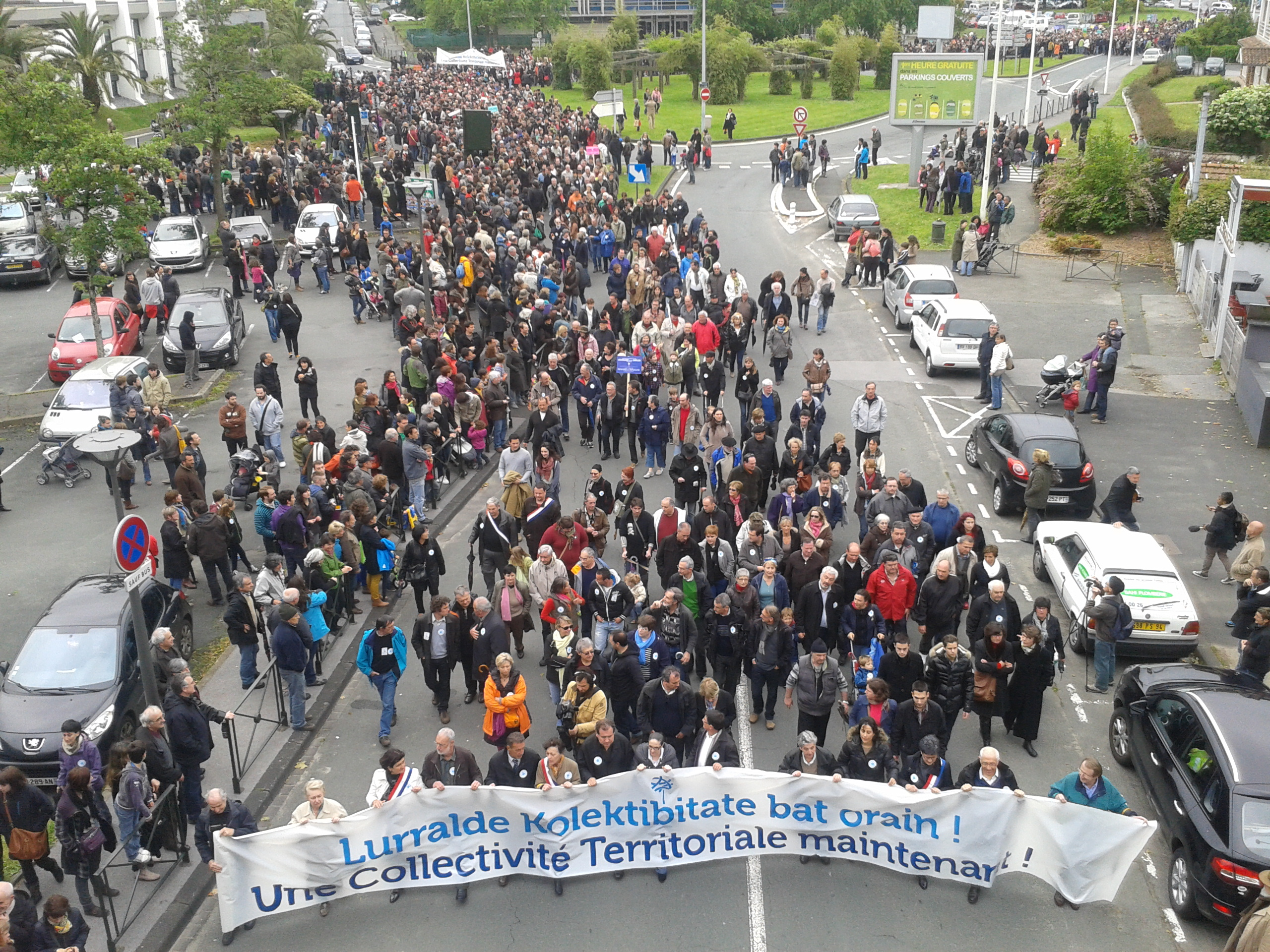 Demonstration in Baiona 2013