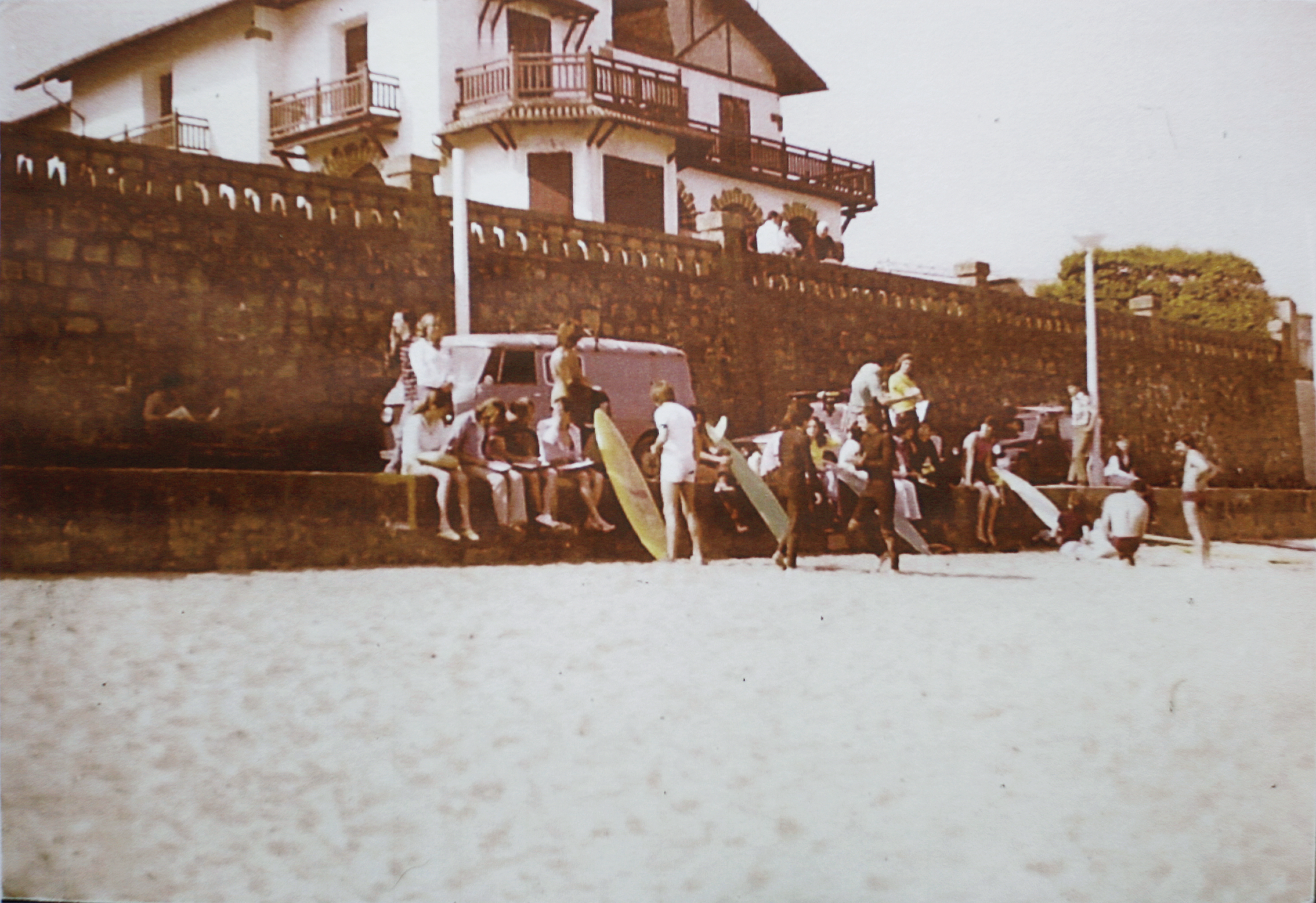 Beginning years at Zarautz beach.