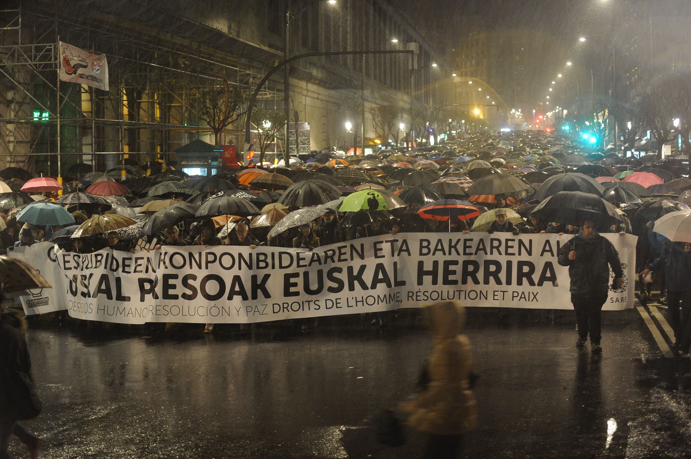 January 2017. Demonstration in Bilbao for prisoners' rights. Photo: El Diario Vasco Newspaper