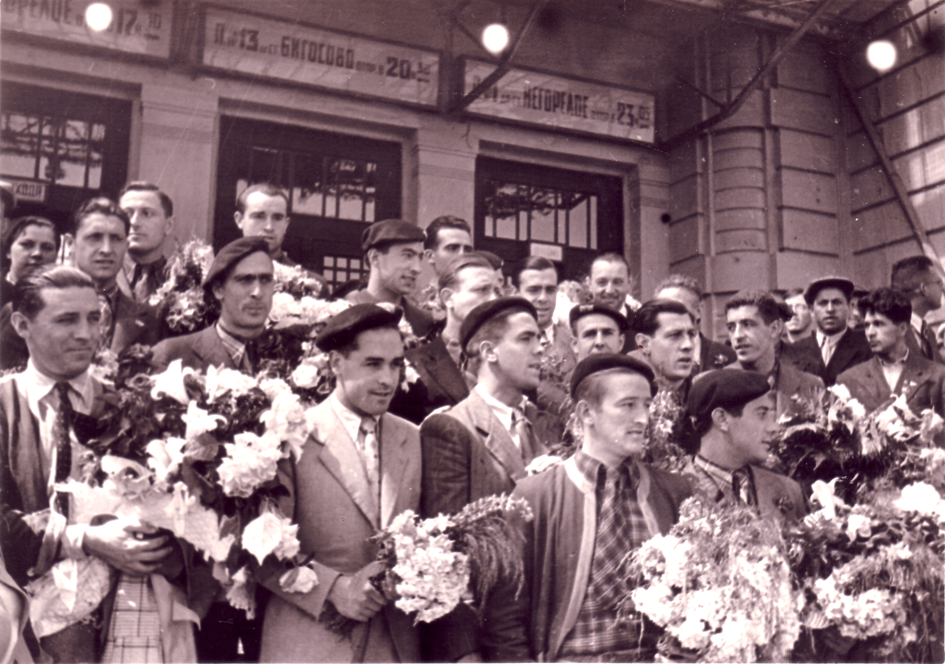 Welcoming of the team in Marseille. May 1937